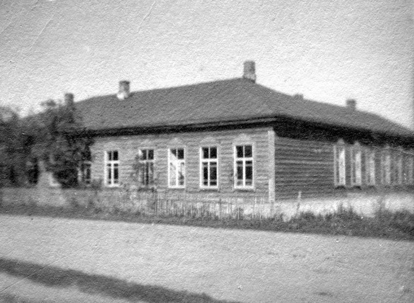 д. Городец Рогачевского района, довоенное здание колы