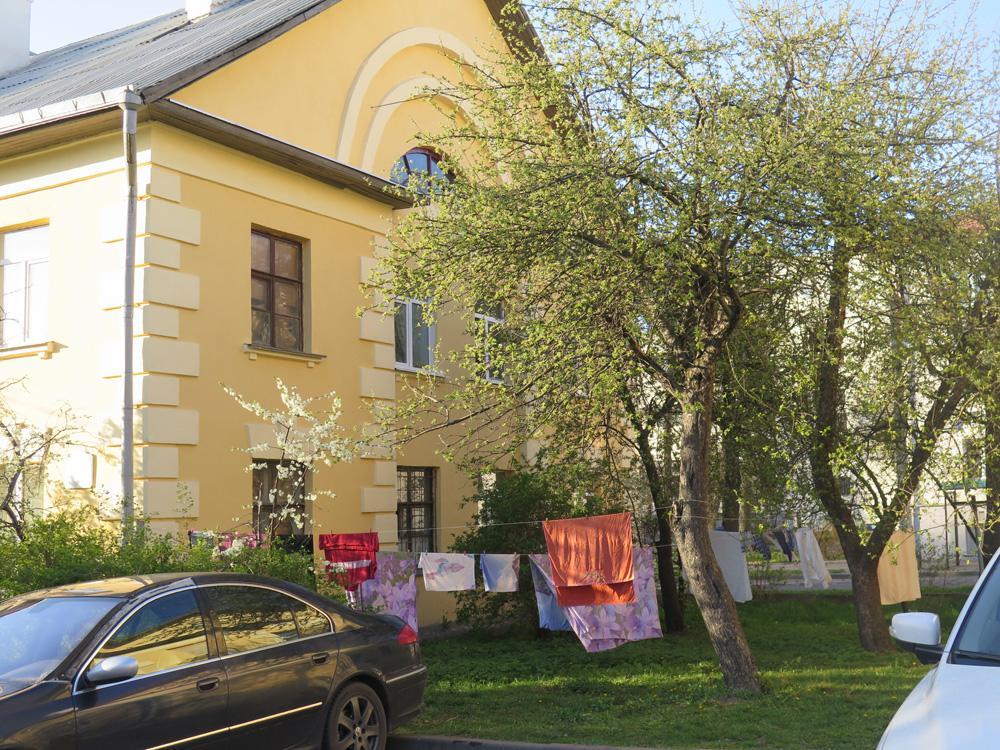 Осмоловка, Минск, сушится бельё