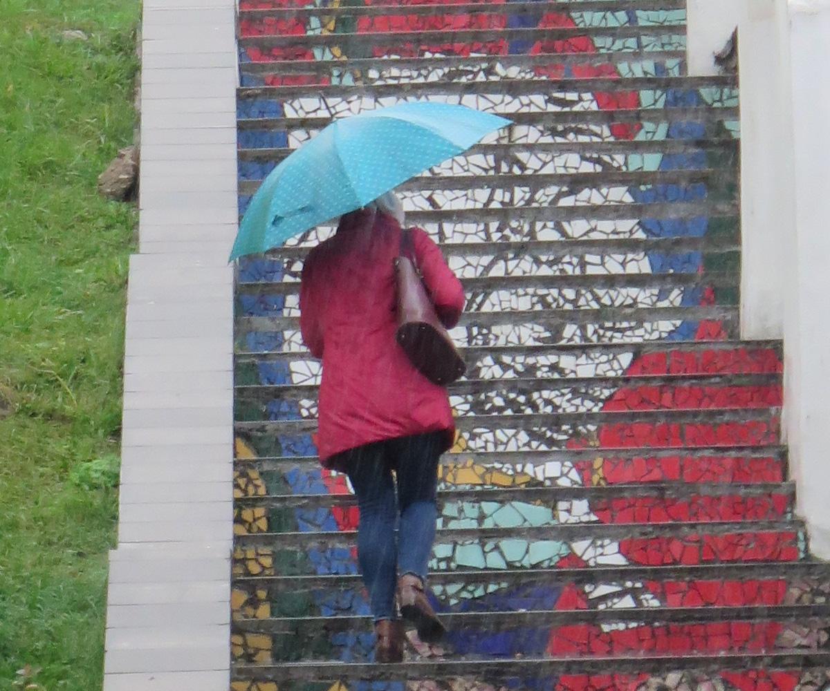 Минск, Верхний город, Цветная Кераминовская лестница