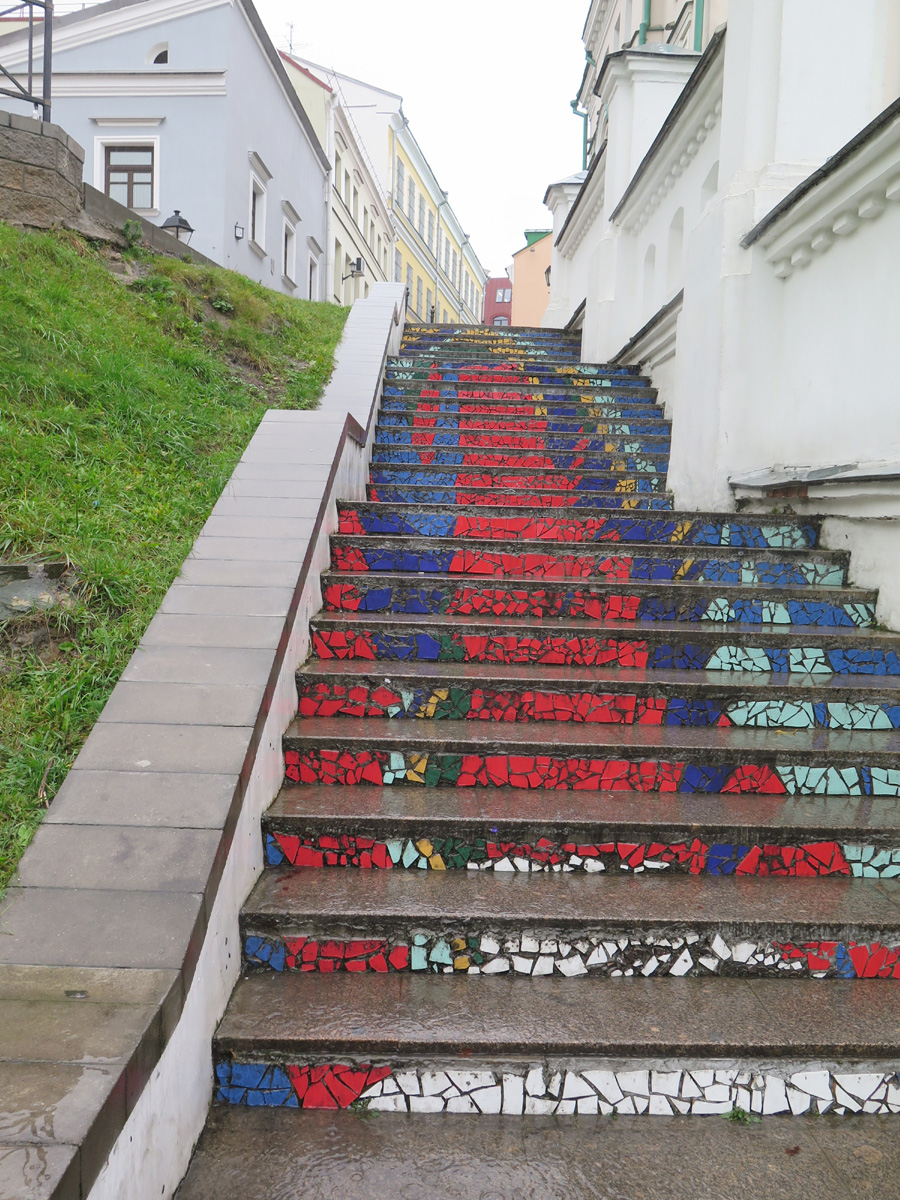 Минск, Верхний город, лестница от Керамина