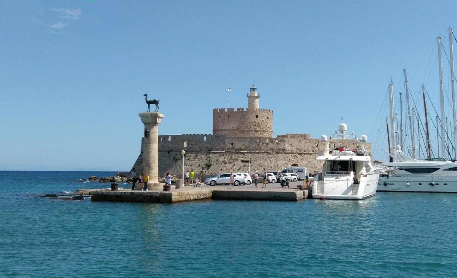 Остров Родос, Греция, порт