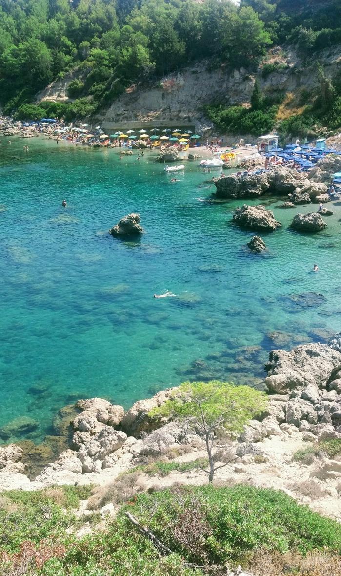 Остров Родос, Греция, бухта