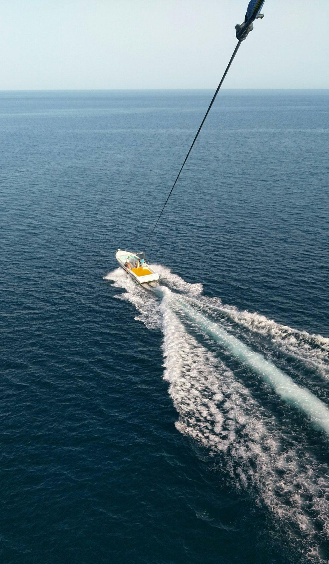 Родос, море, катер, фото с высоты полёта