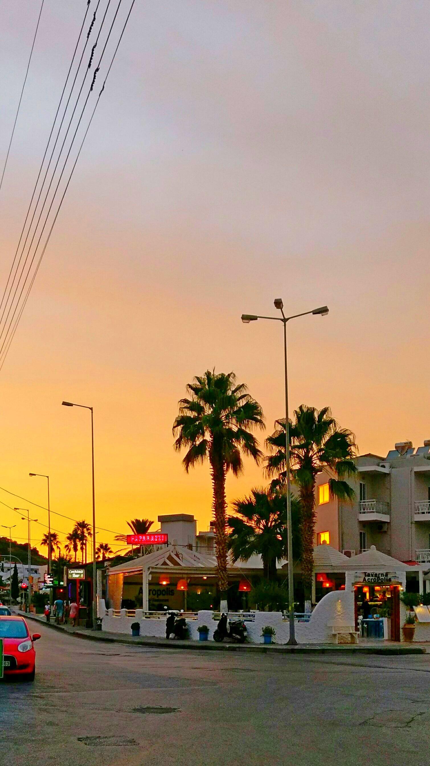 Остров Родос, вечер, Греция