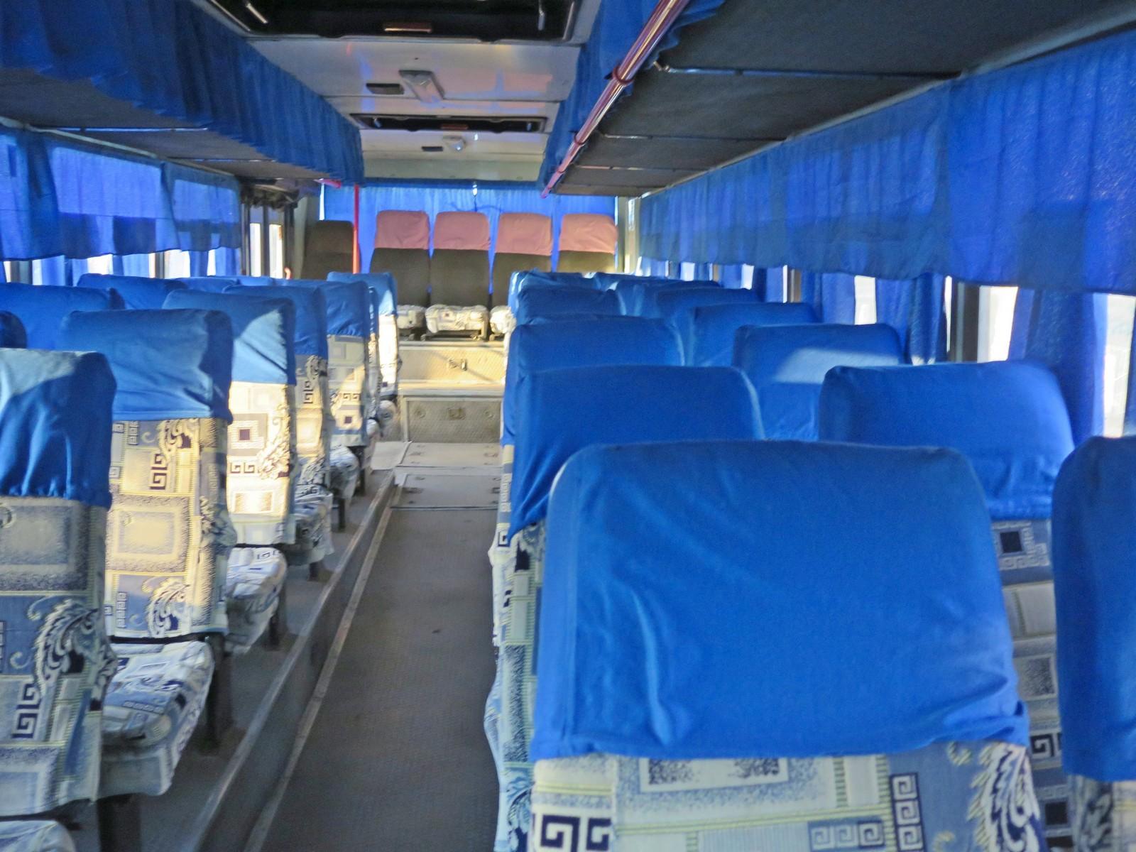 Салон автобуса Белицк-Жлобин